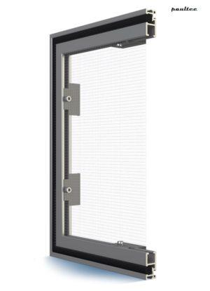 Fenster Moskitonetz – Feste Fliegengitter Insektenschutz mit Aufsatzrollladen integrierbar