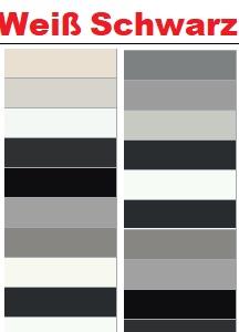 Weiße Schwarze RAL Farben