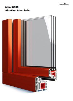 aluplast-ideal-8000-Aluskin Aluschale-3-fach-verglasung