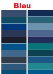 Blaue RAL-Farben