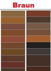 Braune RAL Farben