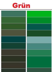 Grüne RAL-Farben