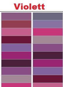 Violette RAL-Farben