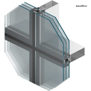 MB-SR50N EFEKT Semi-Structural-Glazing-Fassade in Pfosten-Riegelbauweise