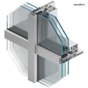 MB-SR50N IW Pfosten-Riegel-Vorhangfassade mit Verstecktem (Integriertem) Fenster