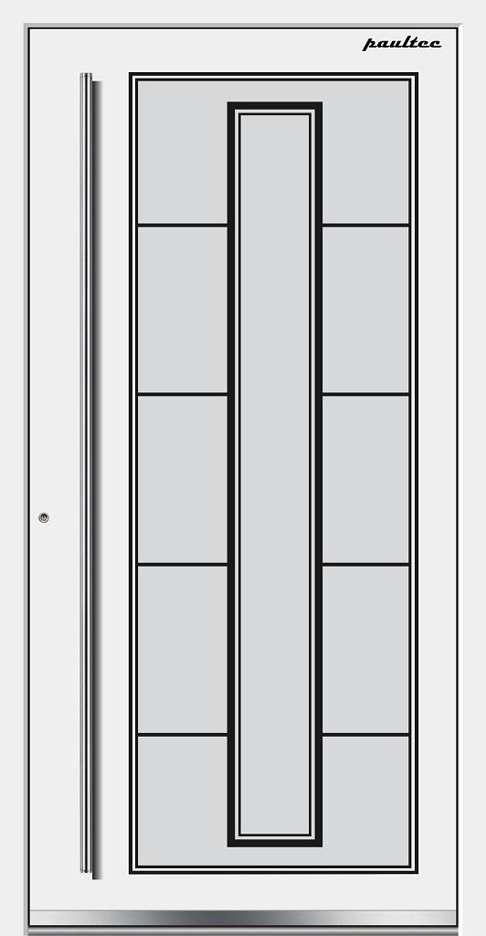 1 Haustüren Neumarkt M81101WS-9016-weiss-front